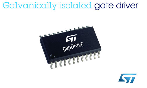 意法半导体(st)推出电流隔离gapdrive:新的尖端智能集成栅驱动器