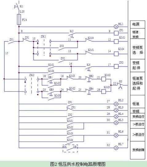 抽水泵的电路图