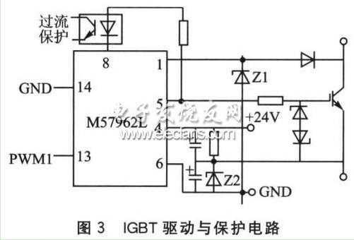 因此驱动电路选用4片三菱公司生产的驱动模块m57962l