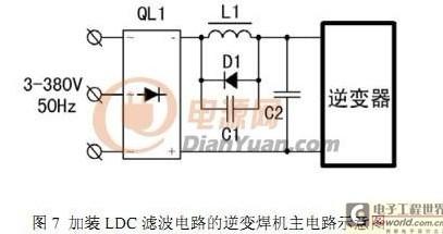 在弧焊逆变电源中采用 ldc 滤波电路,可以抑制 lc 振荡,降低直流线