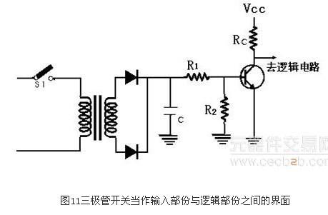 电路的r1,r2和rc值必须慎加选择,以保证三极管只工作于截止区与饱和区