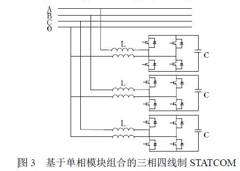 基于单相模块组合的三相四线制statcom