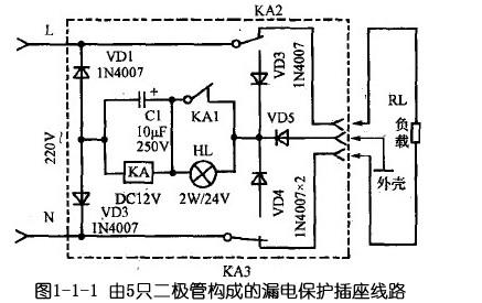 vd4二极管均接入电路并断开了用电器rl的供电